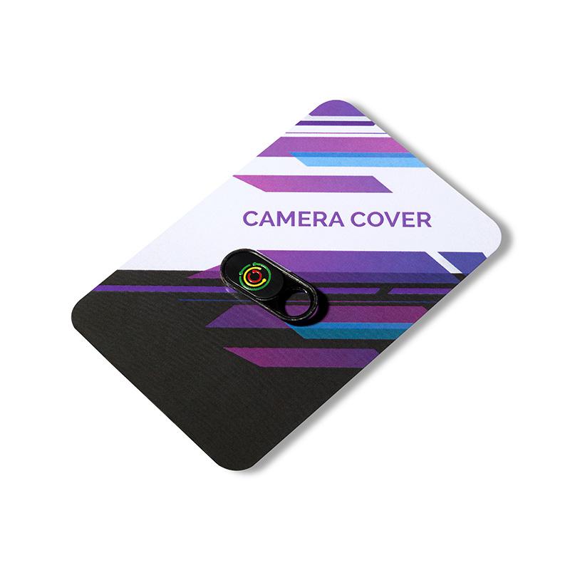 Mały camera blocker logo czarny z nadrukiem